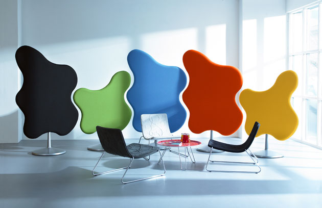 Stylish acoustic panels for sound optimization in the office