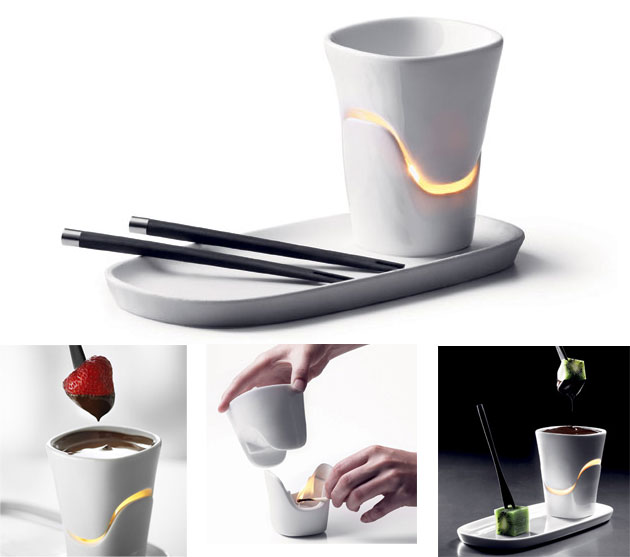 Romantic Chocolate Fondue Set