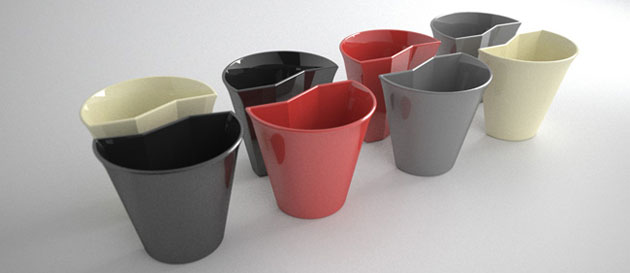 Smart ceramic cups for creative kitchens