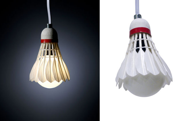 How to easy make your own designer Shuttlecock Pendant Lamp