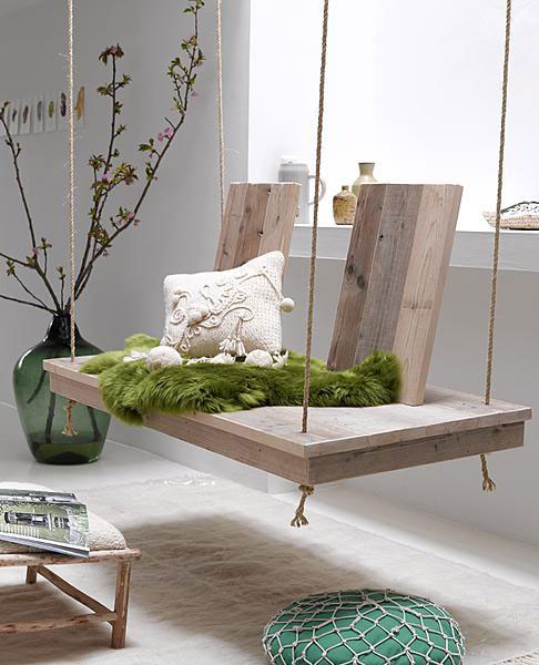 Visually appealing DIY wooden swing