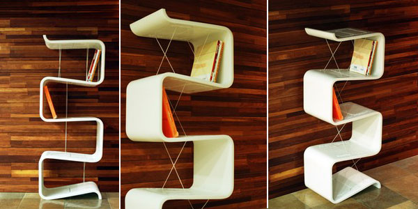 LIEUL bookshelf - stunning design and innovative book organization