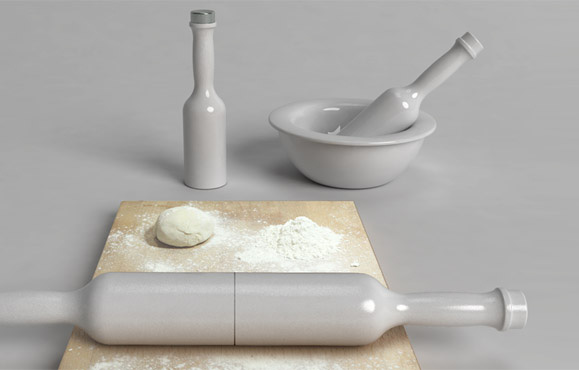 Multifunctional kitchen tools for rolling and mixing