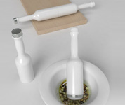 Multifunctional kitchen tool for rolling and mixing