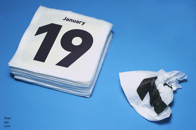 aesthetic napkins calendar for 2009