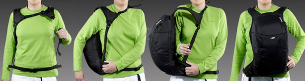 Reverse backpack for ultimate winter experience