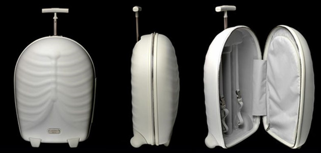 The Hero Upright - innovative, rib cage shaped piece of luggage from Samsonite