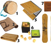 Kickstyle sustainable selection of Bamboo, Cork and Wood
