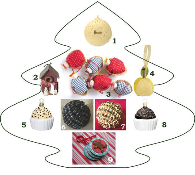 Kickstyle selection of Tasty Decoration for Christmas Trees