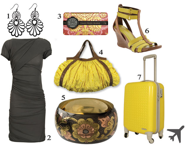 Kickstyle's Yellow Airplane product selection for succesfull business ladies