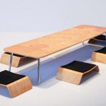 Stylish Japanese Dining Table&Chairs which Fit in a Box