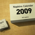 Napkin every day with original and aesthetic 2009 napkins calendar