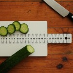 Chopping board with ruler for culinary perfection